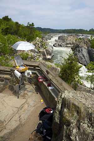 Painting Great Falls Overlook 1 at Mid-day - Edward J. Reed