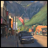 Evening Descends Colorado Avenue Telluride Thumbnail
